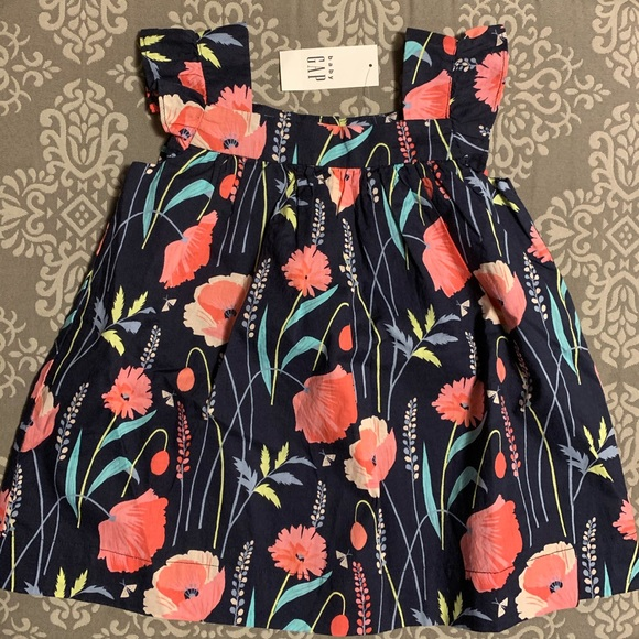 NWT Baby Gap Flowered Dress, 12-18 Months